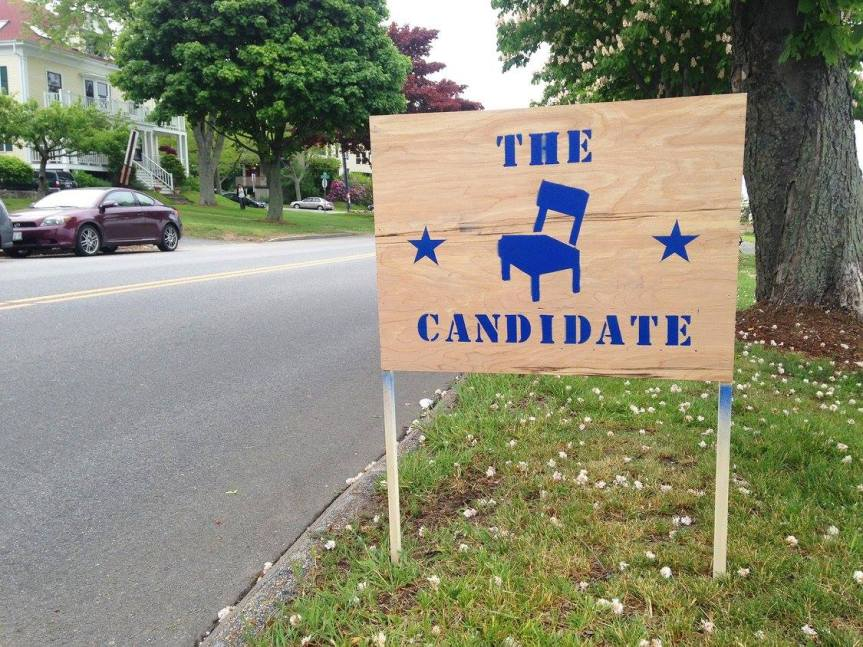 the candidate! a pop-up campaign office